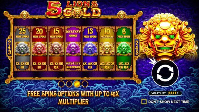 Menang Beruntun Di Slot 5 Lions